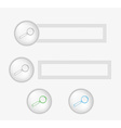 Buttons with magnifying glass vector