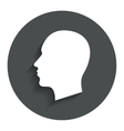 Head sign icon male human head vector