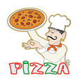 Pizza cook vector