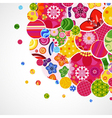Background with floral and ornamental circles vector