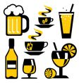 Icons drink vector