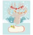 Christmas reindeer new year greeting card vector
