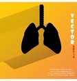 Human lung flat modern web button with long shadow vector