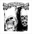 Grunge skull background vector