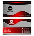 Vertical business card vector