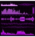 Music sound waves set vector
