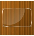 Glass frame on wood background vector