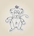 Ape sketch vector