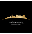 Vancouver british columbia canada city skyline sil vector