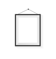 Rectangle blank frame on a white vector