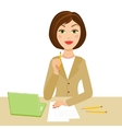 Office secretary vector