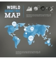 Three dimensional polygonal world map and vector