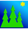 Christmas trees and star vector