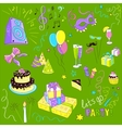 Colored set of sketch party vector