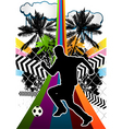 Soccer summer background vector
