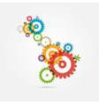 Abstract colorful cogs - gears on white background vector