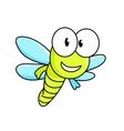 Cartoon dragonfly character vector