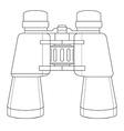 Binoculars icon contour vector