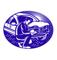 Auto insurance assessor vector