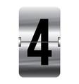 Alphabet silver flipboard letters 4 vector