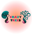 Crazy trees vector