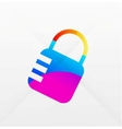 Lock modern colorful design vector