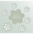 Modern flowers background vector