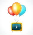 Fly tv and ballons vector