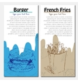 Banners of fast food design with french fries and vector