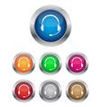 Call center buttons vector