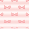 Seamless pattern with bows pink strips background vector