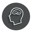 Head with brain sign icon male human head vector