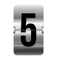 Alphabet silver flipboard letters 5 vector
