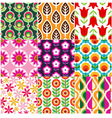 Seamless retro flower pattern vector
