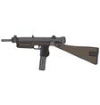 Old automatic gun vector