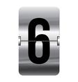 Alphabet silver flipboard letters 6 vector