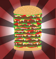 Tall burger art vector