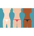 Beautiful girls in bikini spin and booty woman vector