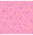 Stylized flowers in pastel rosy and violet colors vector