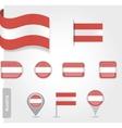 Austria flag icon set vector