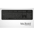 Computer keyboard to black with white letters vector