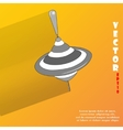 Whirligig flat modern web button with long shadow vector