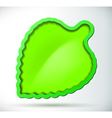 Green leaf with border and shadow vector