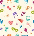 Seamless pattern of party colorful icons wallpaper vector