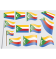 Flag of union of the comoros vector