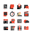 Flat design monochrome icons collection vector