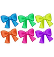 Colourful ribbons vector