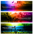Rainbow backgrounds vector