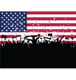 American party crowd vector