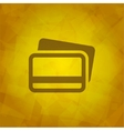 Credit cards icon design element vector